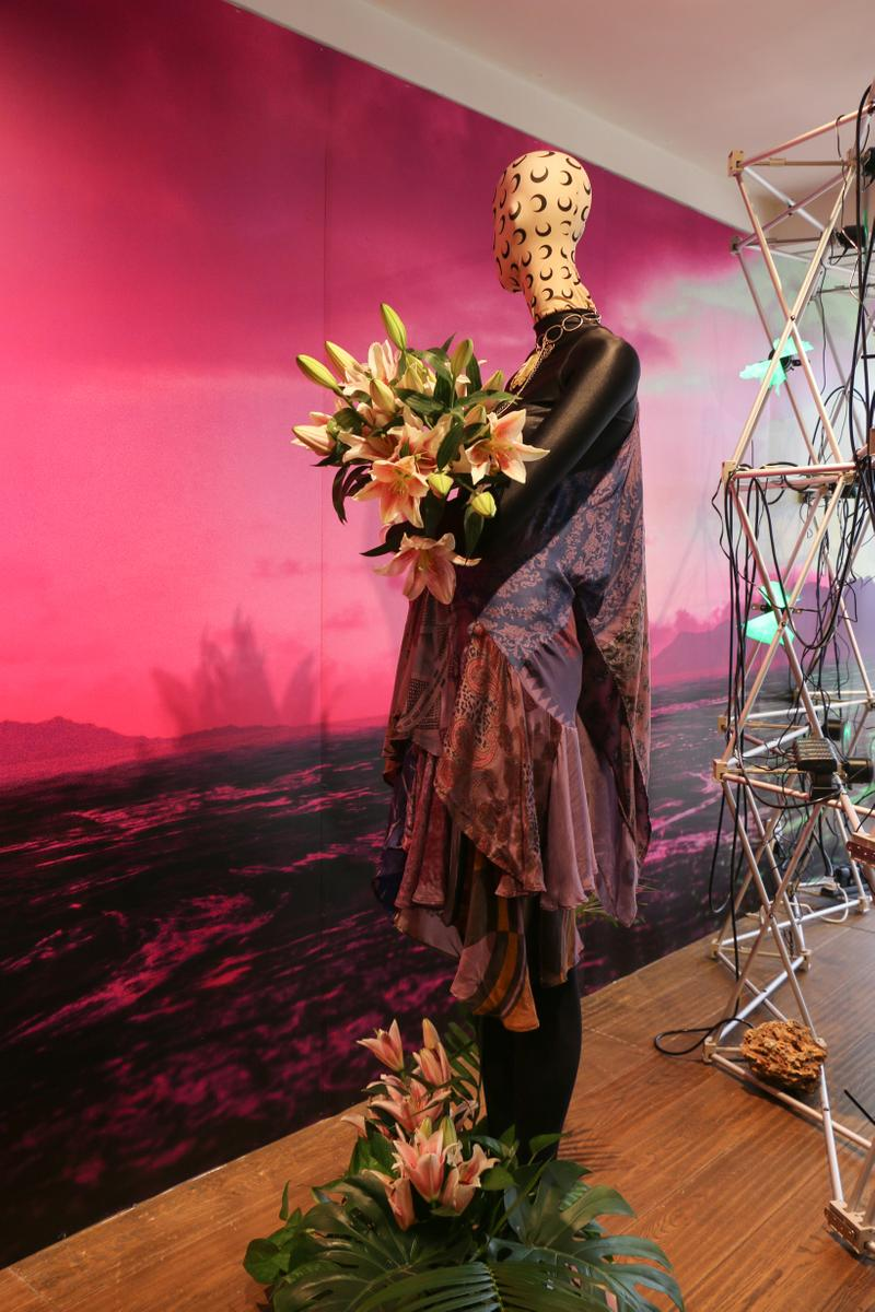 Joyce x Marine Serre Capsule Collection Hong Kong Dress Purple Pink