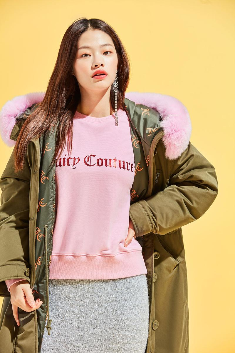 juicy couture south korean collection kpop velour tracksuits rhinestone puffer jackets