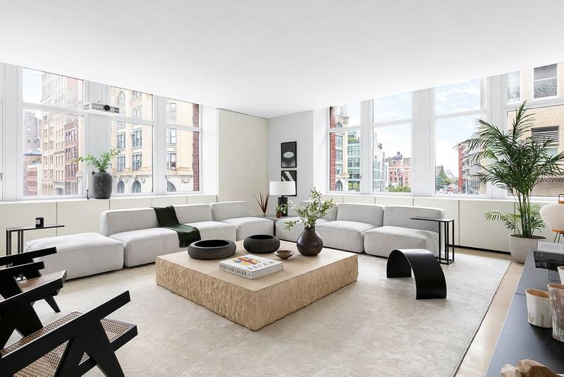 Kanye West Former SoHo New York City Apartment Furniture Tables Couches Windows
