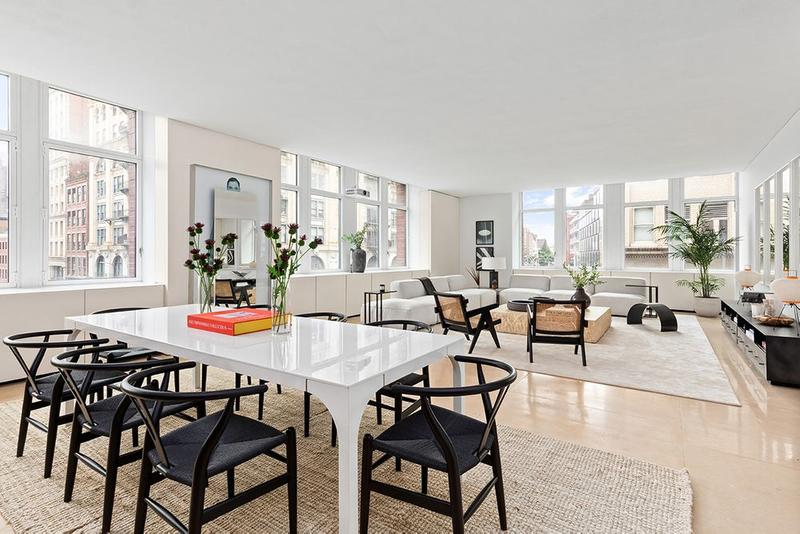 Kanye West Former SoHo New York City Apartment Furniture Tables Couches Windows Chairs
