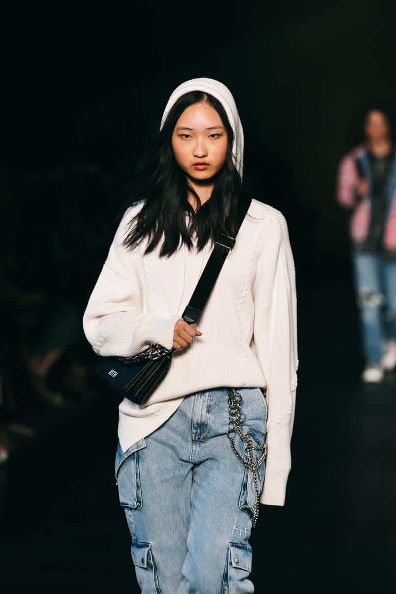 kith runway hoodie knit jeans denim