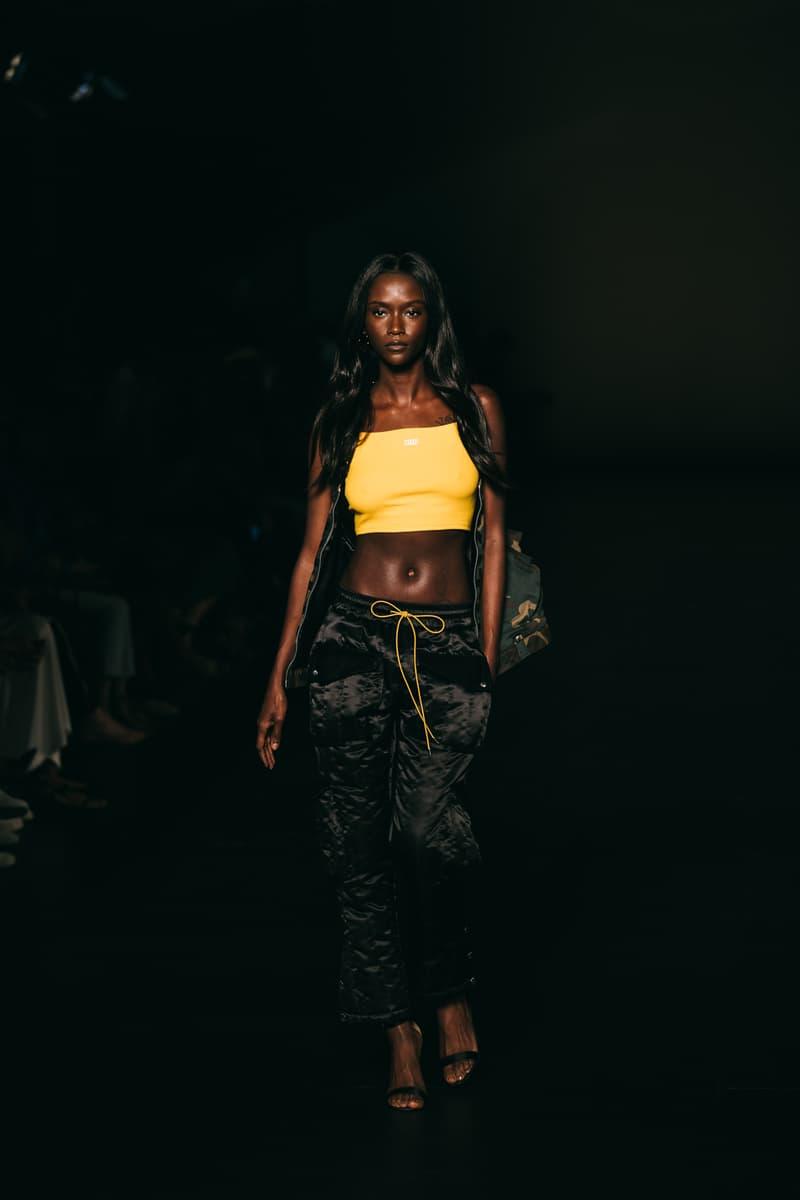 kith runway crop top trackpants