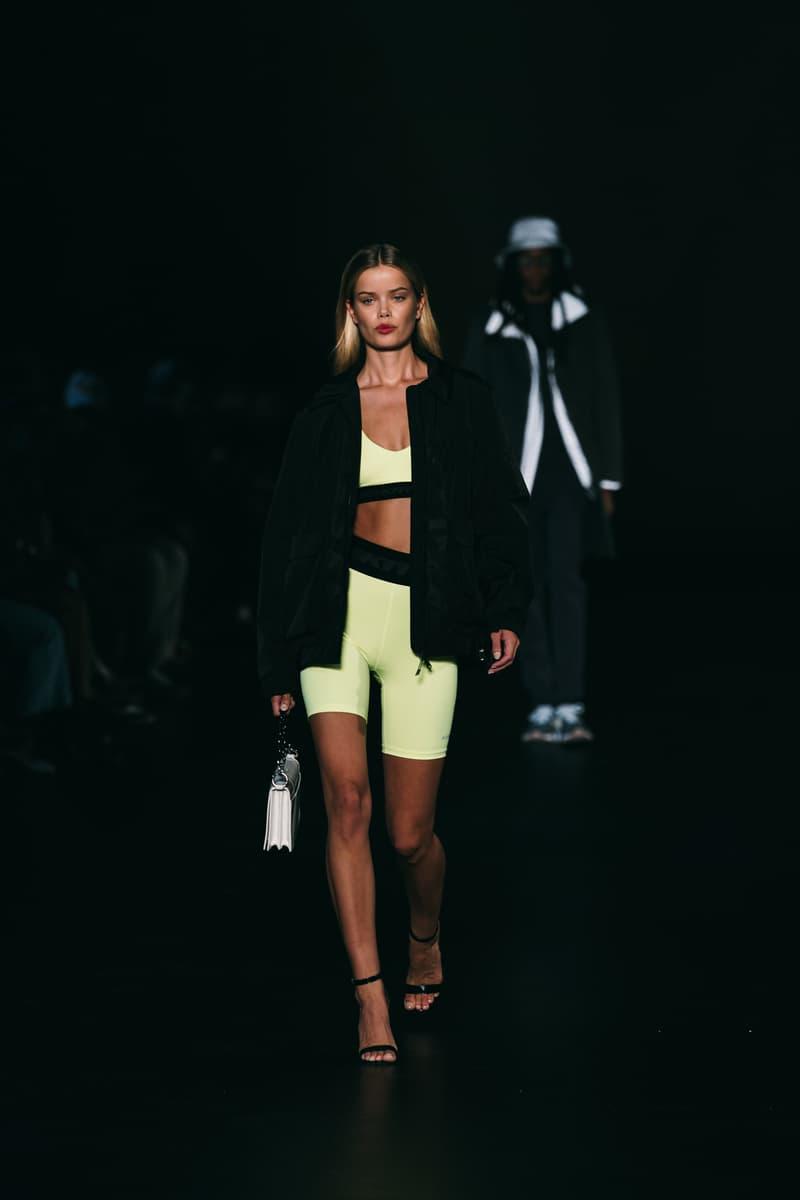 kith runway biker shorts bra top