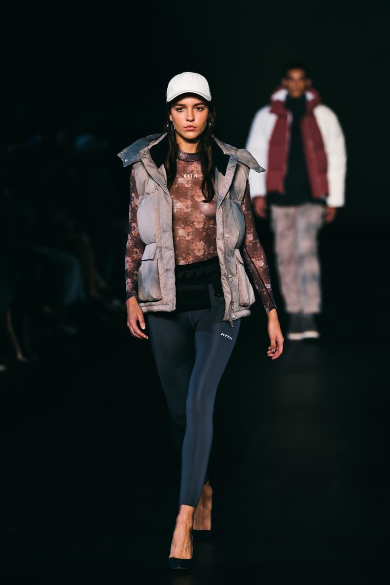 kith runway caps puffer vests leggings