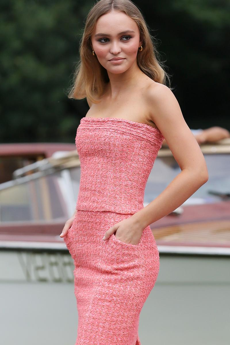 Lily-Rose Depp Venice Film Festival Pink Chanel Dress 2019
