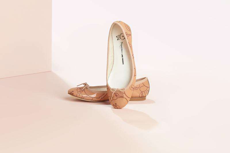line friends repetto choco limited edition cendrillon ballet flats brown bear bow charm