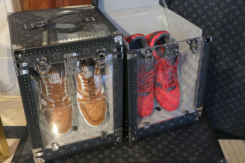 Louis Vuitton Hard Sided Trunks Preview Virgil Abloh Sneakers Red Brown