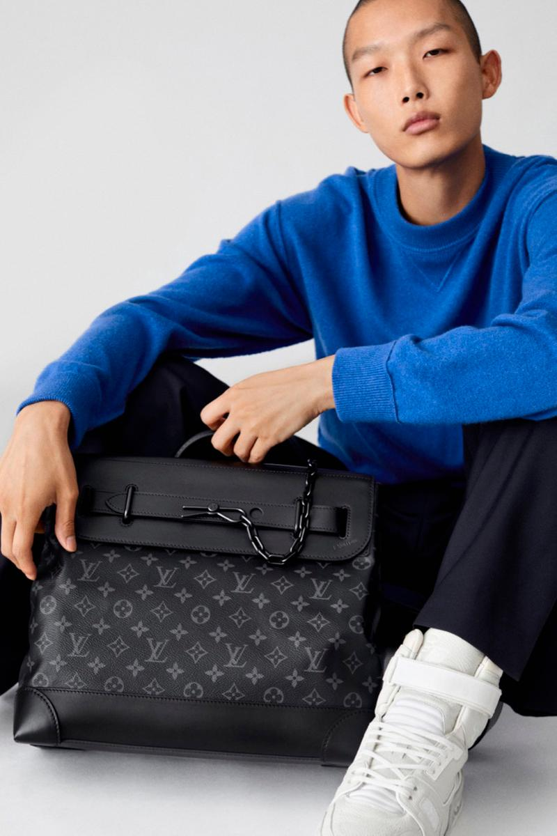 Louis Vuitton Monogram Eclipse Bag Collection Virgil Abloh Designs Print LV Pochette Bag Soft Trunk Accessories Release