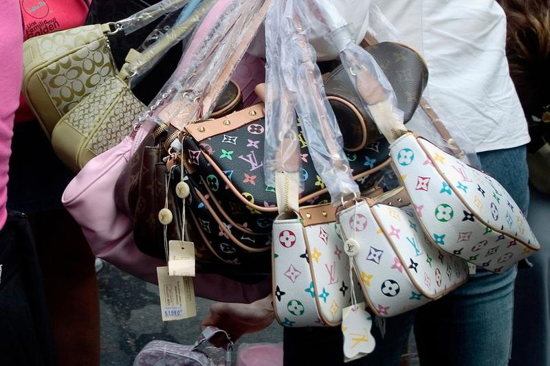 Fake Louis Vuitton Coach Handbags White Black Tan Brown