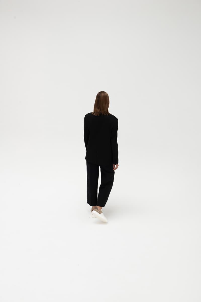 Maha Amsterdam x Filling Pieces Low Plain Court Sneaker White Brown Blazer Pants Black