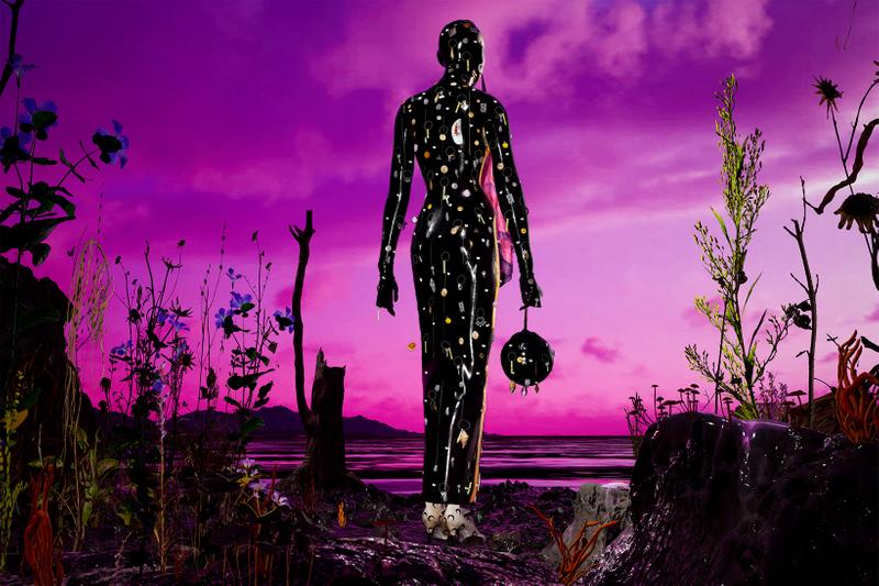 marine serre radiation fall winter campaign collection moon catsuit