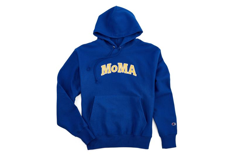 MoMA x Champion Exclusive Hoodie Collection Blue Grey Black Logo