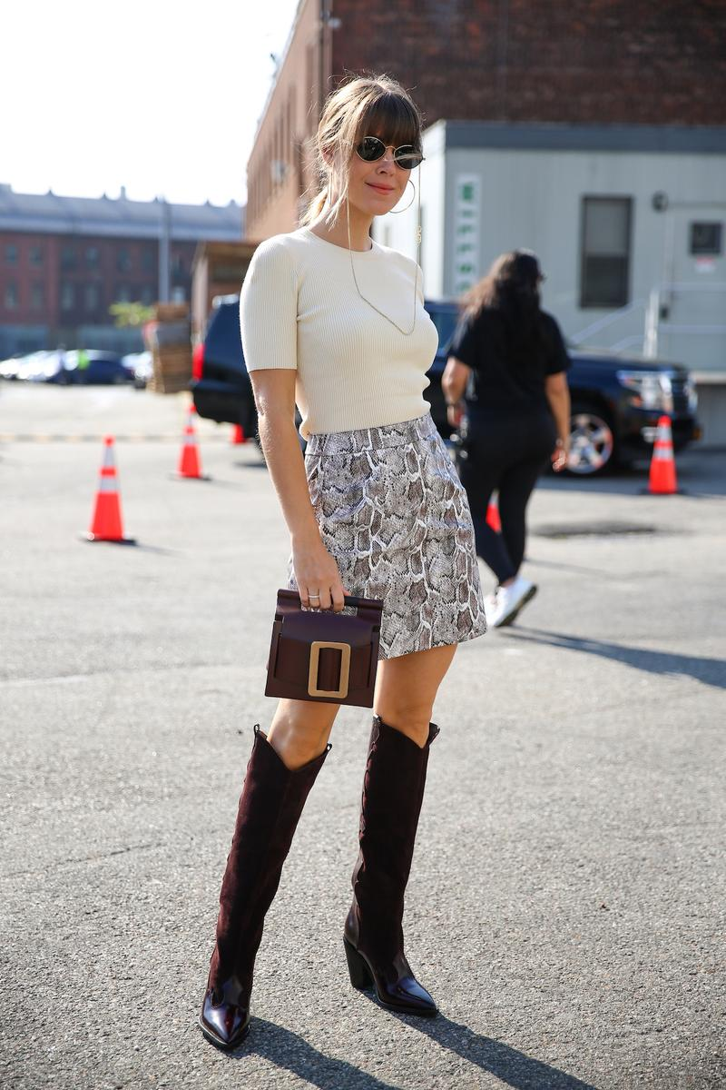 Fashion Week Street Celebrity Style Statement Boots Cowboy Boots Trend Aleali May Aimee Song Xenia Adonts Street Style