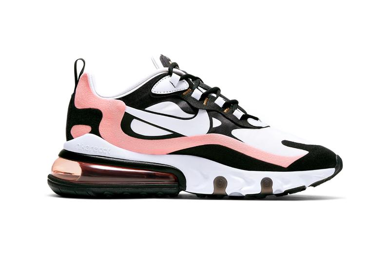 Nike Air Max 270 React Black Bleached Coral Metallic Gold White
