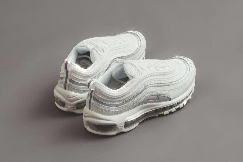 Nike Air Max 97 White Iridescent Sneaker Release Chrome Silver Glitter Trainer Footwear Grey Shiny Where to Buy