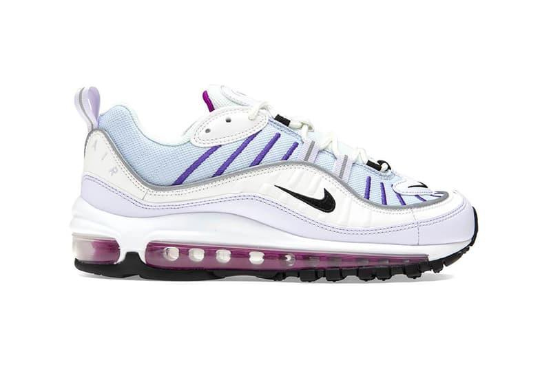 nike air max 98 womens sneakers football grey white purple pink footwear shoes sneakerhead