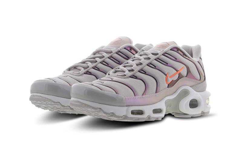 nike tn air max plus purple white orange holographic metallic sneaker price release