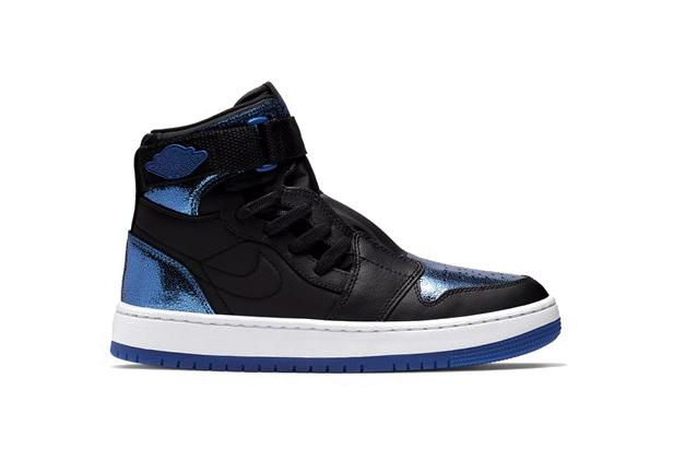 Nike Air Jordan Nova XX Metallic Blue/Black Sneaker Shoe Trainer White Shiny Statement Logo Jordan 1