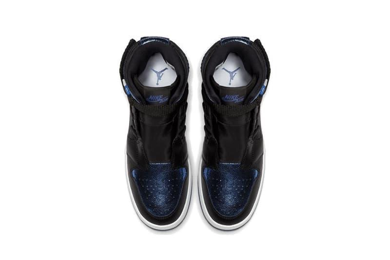 Nike Air Jordan Nova XX Metallic Blue/Black Sneaker Shoe Trainer White Shiny Statement Logo Jordan 1
