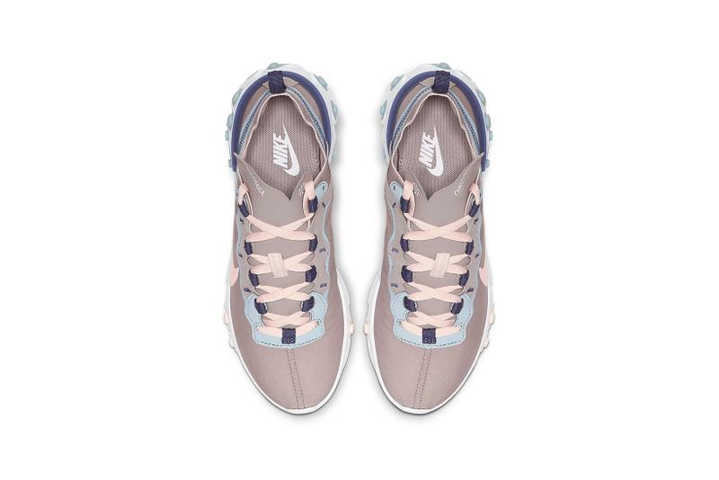 nike react element 55 womens sneakers sanded purple blue pink peach white pumice ocean cube echo pink
