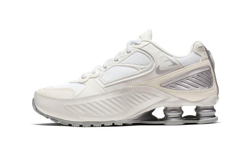 nike shox enigma womens sneakers white phantom pale ivory