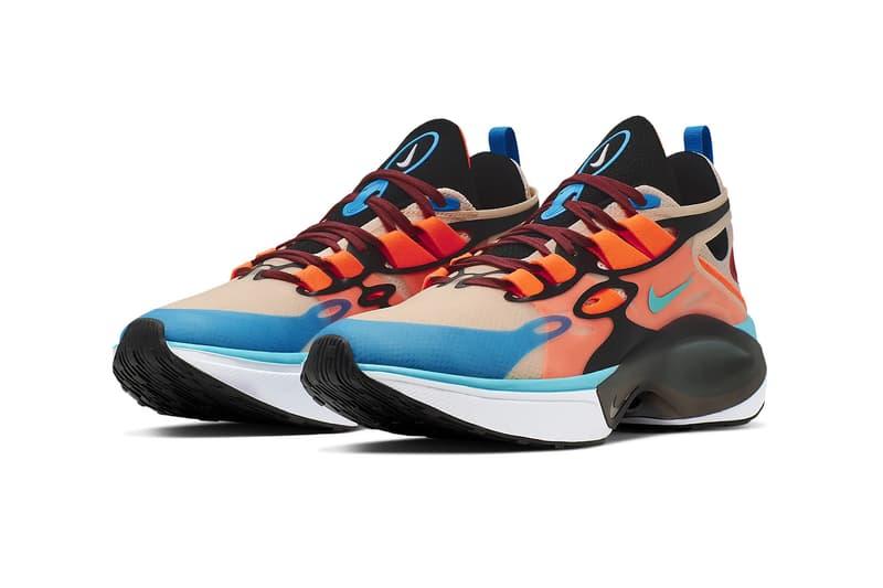 nike signal d ms x sneakers orange blue aqua white release shoe footwear guava ice hyper crimson