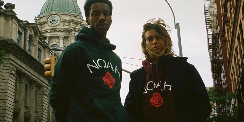 NOAH Releases New Collection of FW19 Rose Logo Hoodies