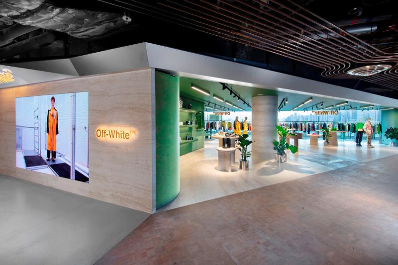 off white hong kong store victoria harbour k11 interior
