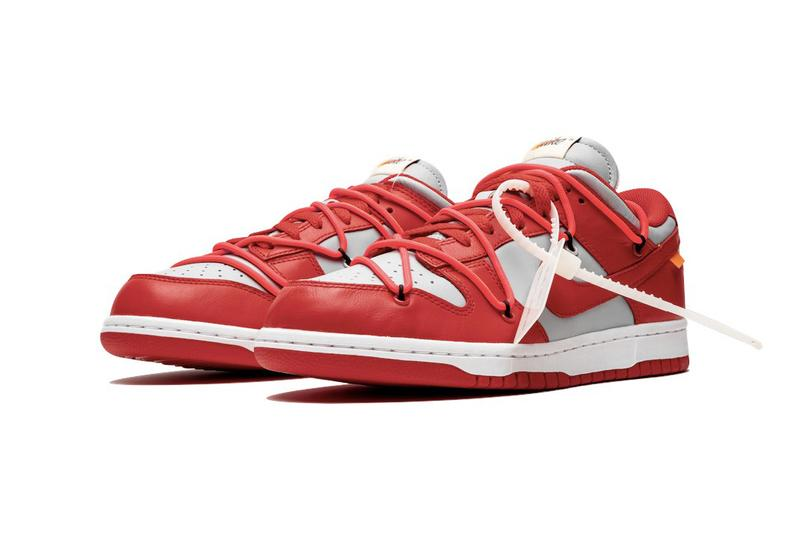 Off-White Nike Dunk Low University Red Gold Pine Green Release Date Price Info Virgil Abloh Sneakers Trainers