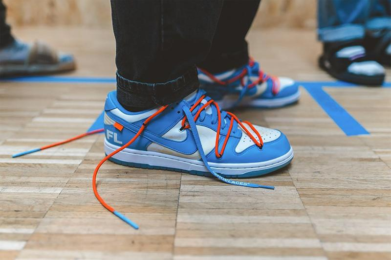 off white nike dunk low virgil abloh yellow black pink green red blue white release