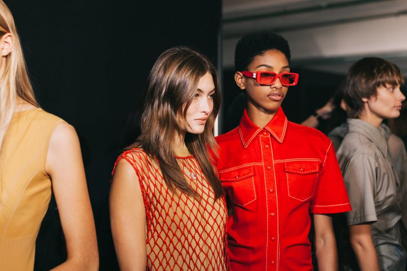 Off-White Spring/Summer 2020 Collection Backstage Gigi Hadid Bella Hadid Adut Akech Alek Wek Virgil Abloh Peggy Gou Halsey Sita Abellan