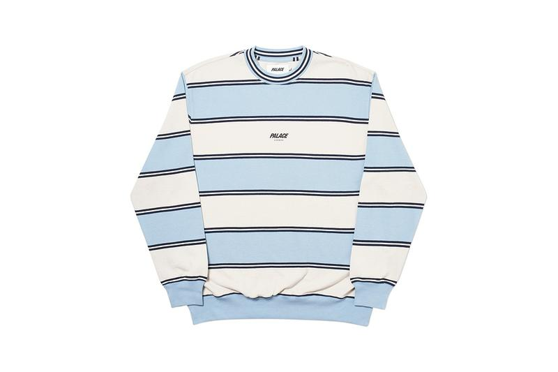 Palace Fall Winter 2019 Collection Sweater White Blue