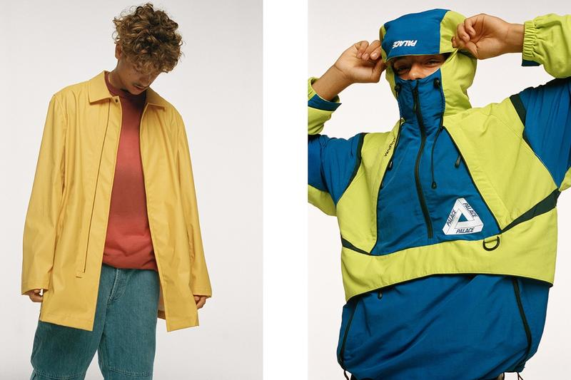 Palace Fall Winter 2019 Lookbook Jackets Yellow Green Blue