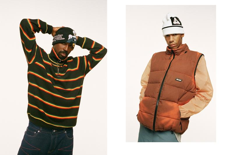 Palace Fall Winter 2019 Lookbook Jacket Orange Sweater Black Yellow Red