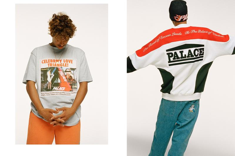 Palace Fall Winter 2019 Lookbook Sweater Grey Shirt Orange