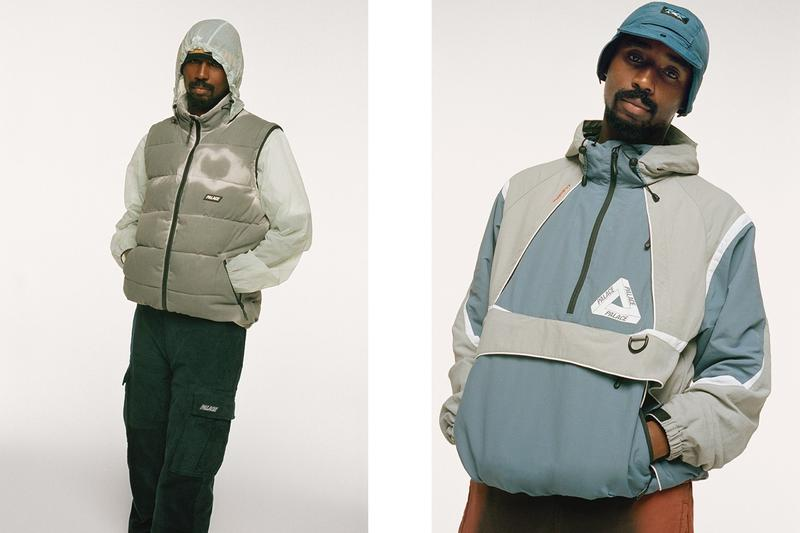 Palace Fall Winter 2019 Lookbook Jackets Grey Blue