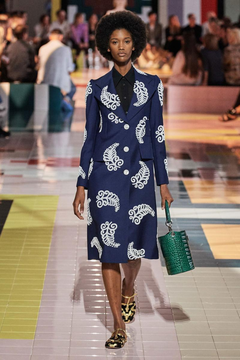 Prada Spring Summer 2020 Collection Milan Fashion Week Skirt Jacket Blue White