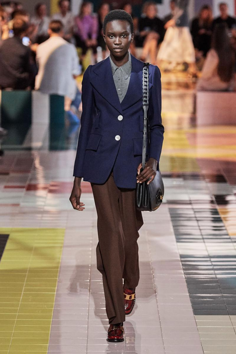Prada Spring Summer 2020 Collection Milan Fashion Week Blazer Tan Pants Brown