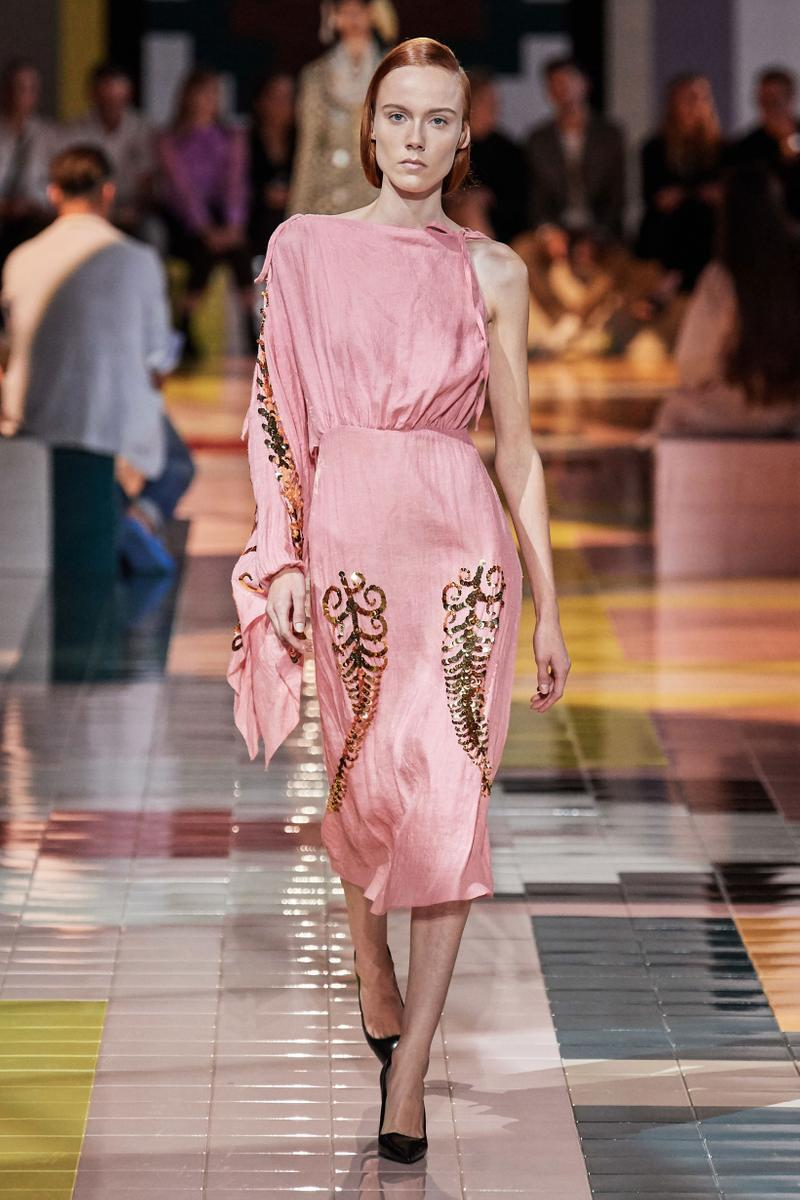 Prada Spring Summer 2020 Collection Milan Fashion Week Dress Pink