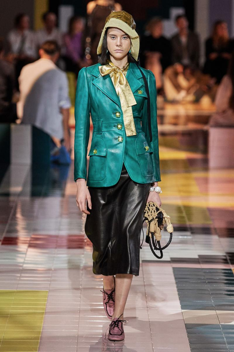 Prada Spring Summer 2020 Collection Milan Fashion Week Jacket Grey Skirt Black