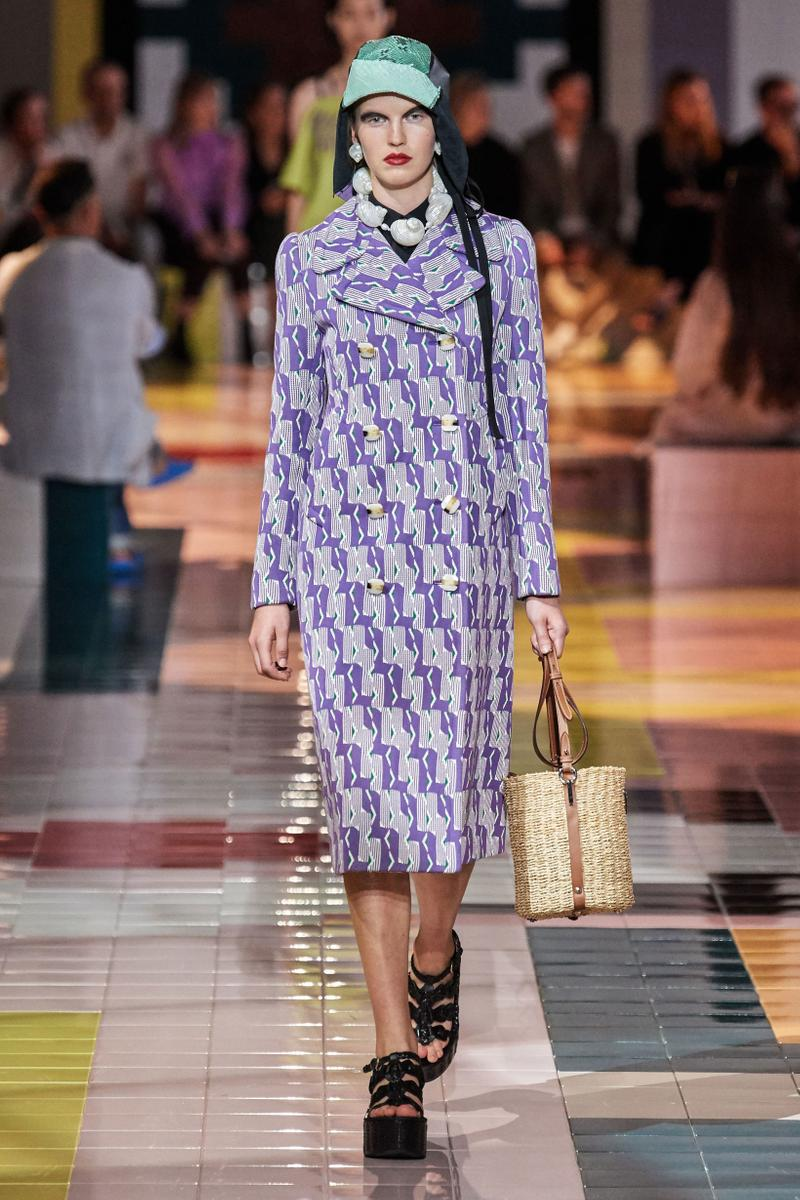 Prada Spring Summer 2020 Collection Milan Fashion Week Jacket Purple