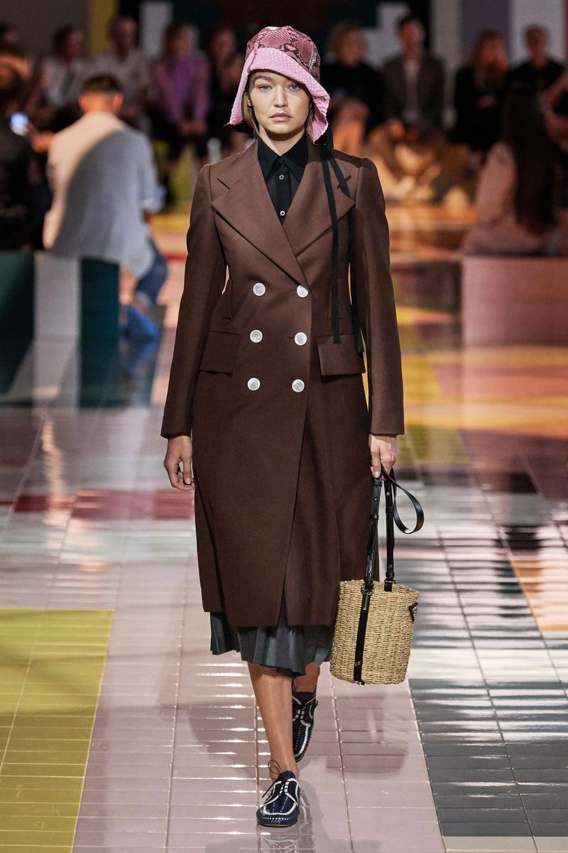 Prada Spring Summer 2020 Collection Milan Fashion Week Jacket Brown