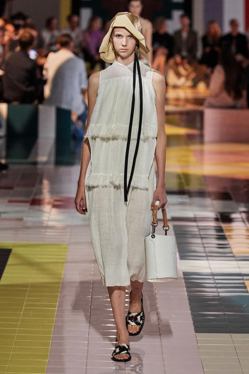 Prada Spring Summer 2020 Collection Milan Fashion Week Dress Tan