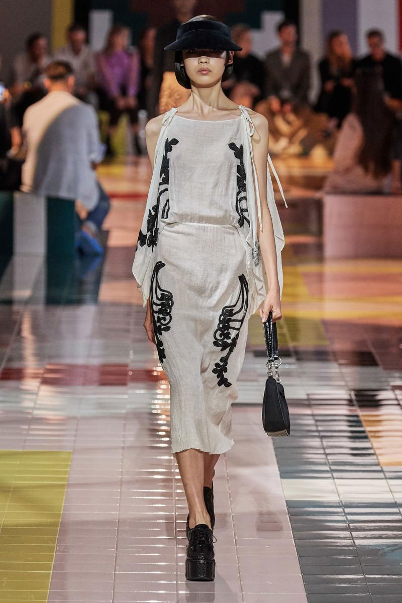 Prada Spring Summer 2020 Collection Milan Fashion Week Top Skirt Grey Black