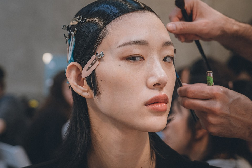 Inside Prada's SS20 Show Beauty Prep, Backstage at Milan Fashion Week
