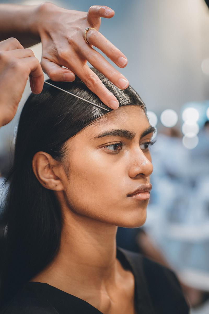 Prada Spring Summer 2020 Runway Show Milan Fashion Week Backstage Beauty Prep Hair Makeup Model