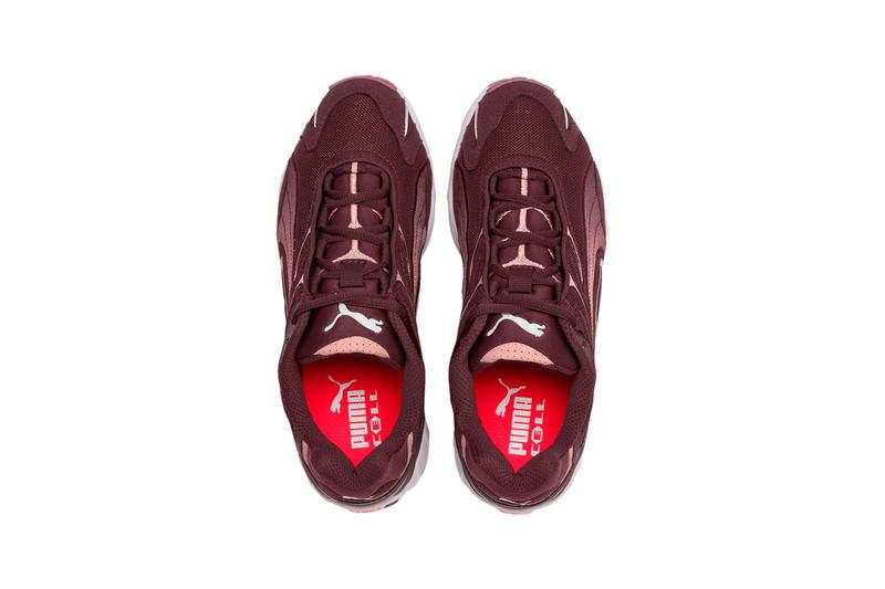 puma inhale flares womens sneakers vineyard wine burgundy black white