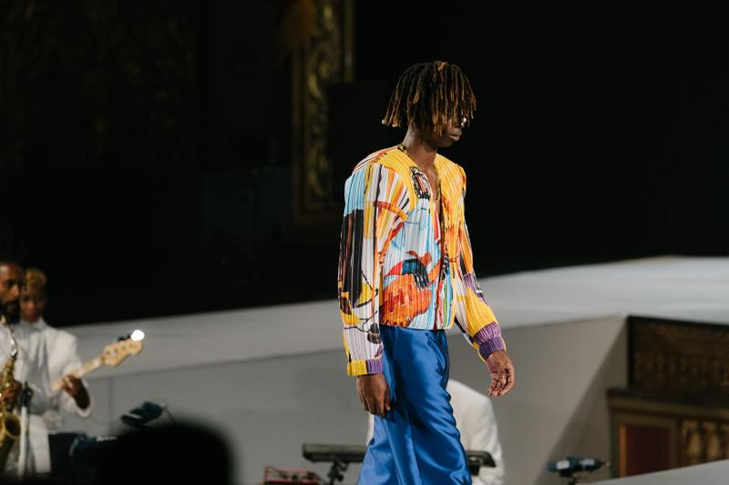 Pyer Moss Collection 3 New York Fashion Week Spring Summer 2020 Top Pants Blue Yellow
