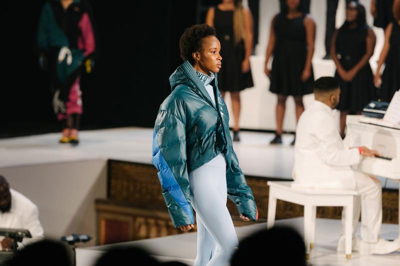 Pyer Moss Collection 3 New York Fashion Week Spring Summer 2020 Jacket Teal Pants Blue
