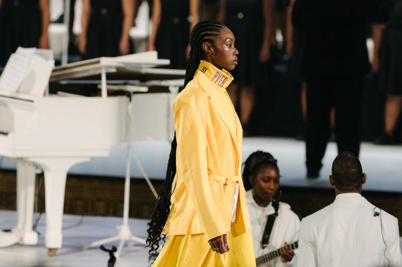 Pyer Moss Collection 3 New York Fashion Week Spring Summer 2020 Jacket Pants Yellow